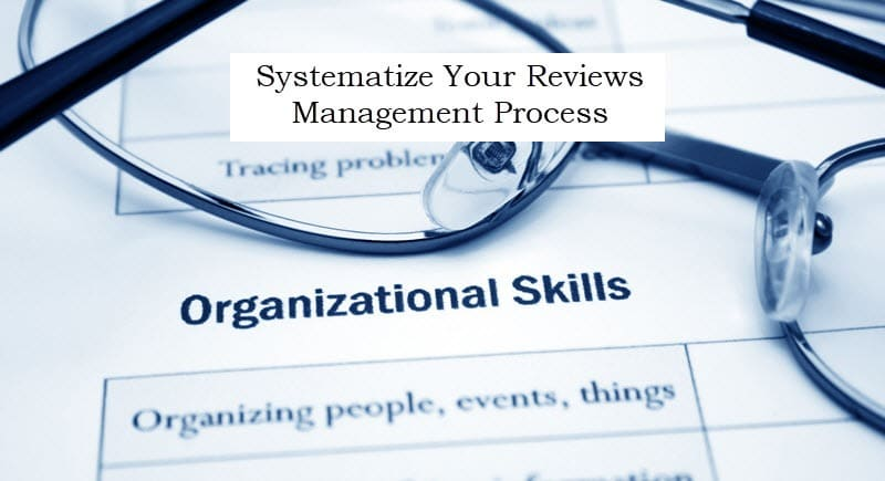 systematize your online reviews management